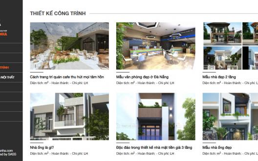 Bàn giao dự án website thiết kế xây dựng nội thất mẫu nhà